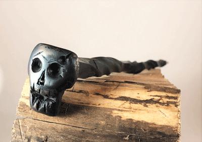 Forged Skull Head Wand